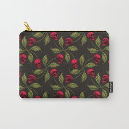 ROCKABILLY CHERRY SKULL Carry-All Pouch