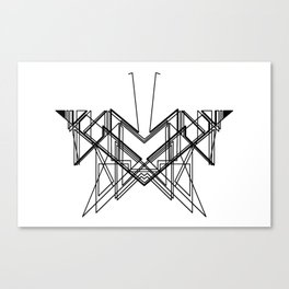 Butterfly without back Canvas Print