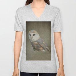 Barn Owl Portait Unisex V-Neck