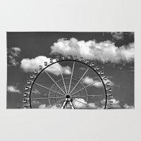 ferris wheel Area & Throw Rugs featuring Ferris Wheel by Anne Seltmann