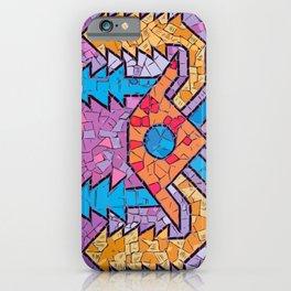 Colourful mosaic UFO Terrazzo Blobs iPhone Case