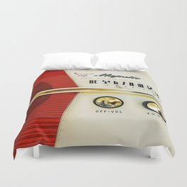 My Grand Father Classic Old vintage Radio Duvet Cover