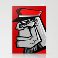russia Stationery Cards featuring For Russia by Dangerous Monkey