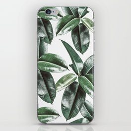 Tropical Leaves Pattern | Dark Green Leaves Photography iPhone Skin