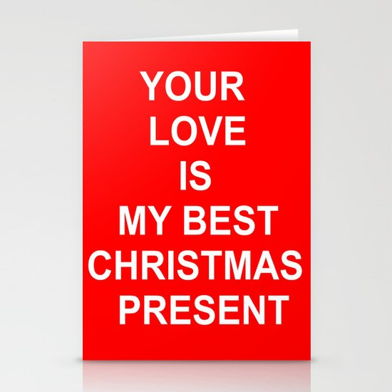 Christmas Red Stationery Cards