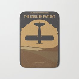 No361 My The English Patient minimal movie poster Bath Mat