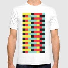 Yellow, Red, Blue Layers (2013) Mens Fitted Tee MEDIUM White