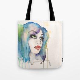 happily watercolored Tote Bag