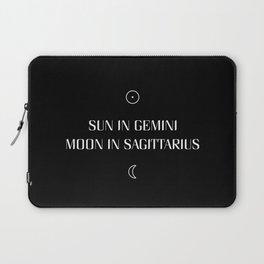 Gemini/Sagittarius Sun and Moon Signs Laptop Sleeve