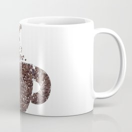 Coffee cup and steam made from coffee beans Coffee Mug