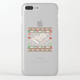 Mechanic - Merry Christmas Clear iPhone Case