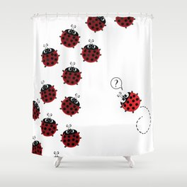 The path to Spring Shower Curtain