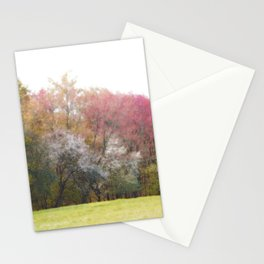 Colorful Flowering Spring Trees Stationery Cards