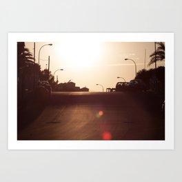 Alicante Sunset Art Print