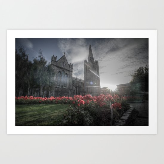 St. Patrick's Cathedral - Lens Flare Art Print