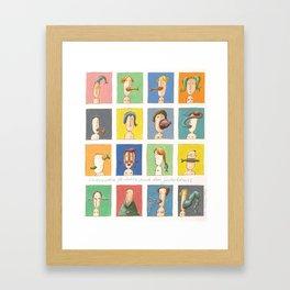 Sixteen Portraits from Memory (Sechszehn Porträts nach dem Gedächtnis) Framed Art Print