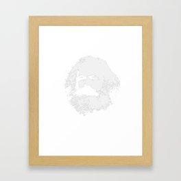 Funny Karl Marx Socialism Sharing is Caring design Framed Art Print