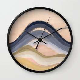 Minimal montains Wall Clock