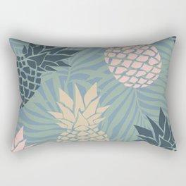 Hawaii Prints, Pineapple and Palms Print, Teal, Pink, Yellow Rectangular Pillow