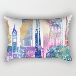 Toronto landmarks watercolor poster Rectangular Pillow
