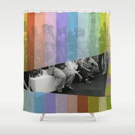 Kodachrome Reunion Shower Curtain