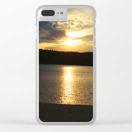 Sunset at Concord's Walden Pond 11 Clear iPhone Case