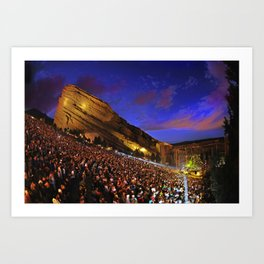 Sublime with Rome Live at Red Rocks - Concert Poster Art Print
