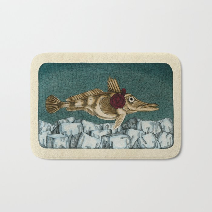 The Ice Fish Cometh Bath Mat