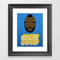 Solid Gold Framed Art Print