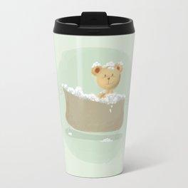 Teddy Bear in Bathtub  Travel Mug