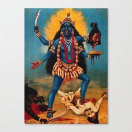 Kali - Hindu Canvas Print