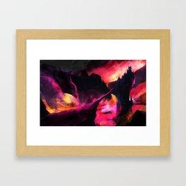 Land of Fire Framed Art Print