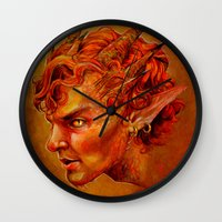 smaug Wall Clocks featuring Smaug the Magnificent by Hattie Hedgehog