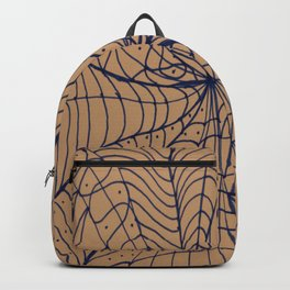 Blue Web Backpack