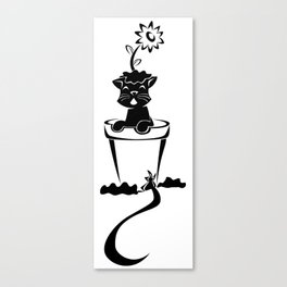 Silhouette In The Flower Pot Canvas Print