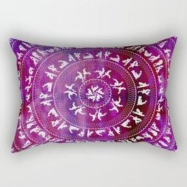 Kama Sutra Mandala Dark Red Rectangular Pillow