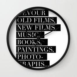 Devour culture Wall Clock