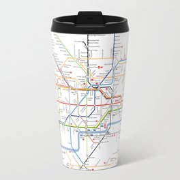 London Britain MAP METRO Travel Mug
