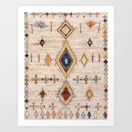 N250 - Oriental Heritage Berber Traditional Moroccan Style Art Print