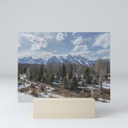 Grand Tetons from Schwabacher Road Mini Art Print