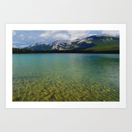 The Collin Range as seen from Lake Edith in Jasper National Park Art Print
