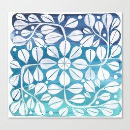 Blue Zellige Canvas Print