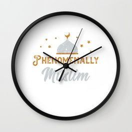 Phenomenally Muslim Islam Allah Mosque Mecca Gift Wall Clock