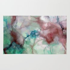 Colorful Watercolor Marble Rugs