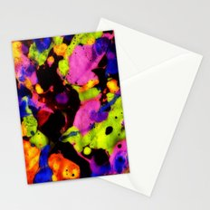 Paintskin with Orange and Blue Stationery Cards