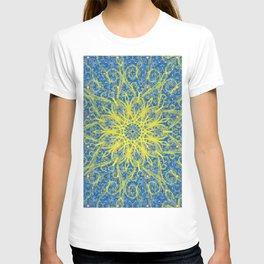 sunburst blue T-shirt