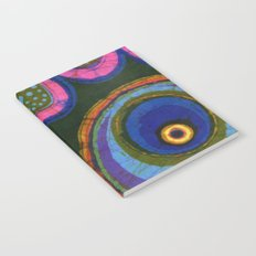 Starburst and polkadots batik Notebook