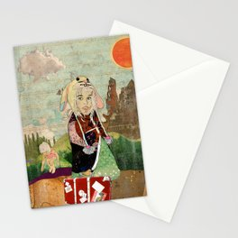 the peculiar adventures of alabee blonde Stationery Cards