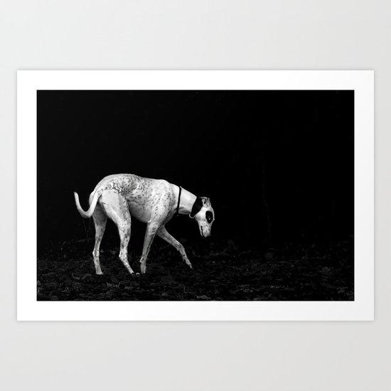 silver shadow Art Print