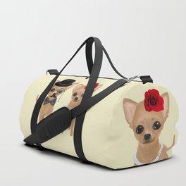 chihuahua couple Duffle Bag